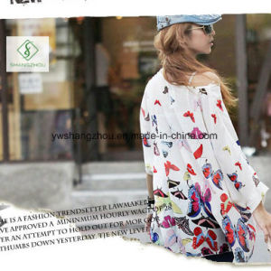 New Design Chiffion Batwing Loose Women Shirt Factory Direct pictures & photos