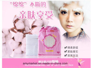 Mofa Meiren 100% Cotton Facial Cotton Double Side Soft Comfortable Makeup Cotton pictures & photos