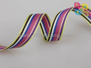 25mm Striped Polyester Tape Webbing for Garment/Clothes/Bag Strap pictures & photos