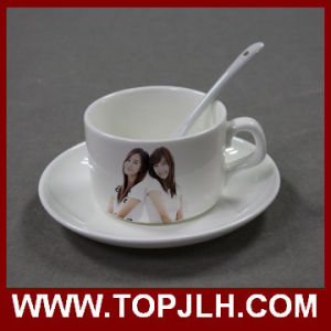 Ceramic Sublimation Coffee Mug with Plate & Spoon pictures & photos