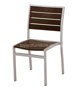 Best Cheap Durable Use Aluminum Frame Polywood Back Stack Patio Bistro Restaurant Side Chair pictures & photos