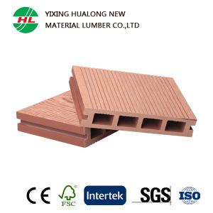 WPC Hollow Decking Wood Plastic Composite Floor for Outdoor (HLM47) pictures & photos