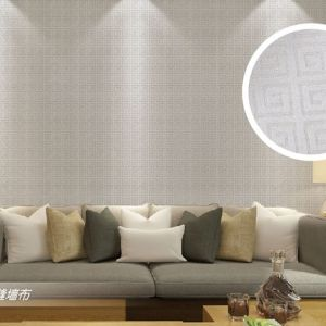 Seamless Chinese Style Square Embossing Wallpaper Fabric Livingroom Bedroom Study