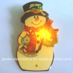 LED Flashing Light Christmas Badges with Customized Dsign (3161) pictures & photos