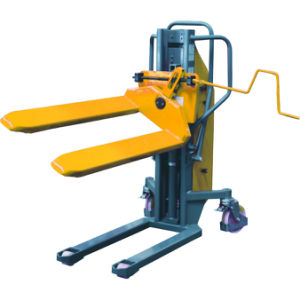 Semi-Electric Pallet Lifting and Tilting Stacker pictures & photos