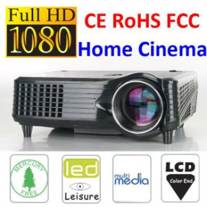 Ce Certificate Mini Home 1500 Lumens LCD LED Projector pictures & photos
