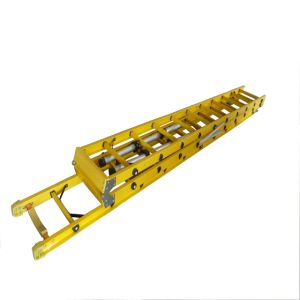 220kv 6.4m Fiberglass Combination Extension Ladder with Balance Feet pictures & photos