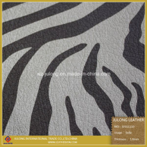Hot Sale Printing Leather PU for Furniture (SF011) pictures & photos