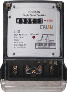Low Cost Single Phase Register Electricity Energy Meter pictures & photos