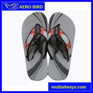 Outdoor Men Pure Black EVA Outsole Sandal Slipper (15K012) pictures & photos
