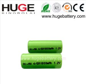 1.2V 4/5A 1800mAh Ni-mhm rechargeable battery pictures & photos