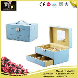 Custom Blue Luxury Jewelry Storage Case (8005) pictures & photos