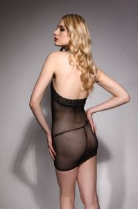 Halter Neck Sexy Lingerie Fishnet & Lace Babydoll 8812 pictures & photos