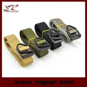Military Airsoft Double Layer Nylon Belt Tactical Combat Waist Belt pictures & photos