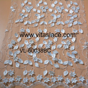 Ivory 3D Flower Rayon Lace Fabric Vl-60070bc pictures & photos