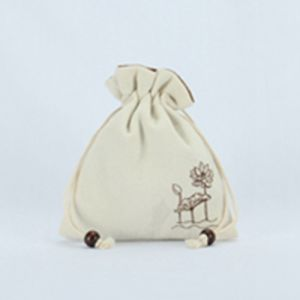 Personalized Drawstring Cotton Calico Gift Bag Wholesale Ctf1611A pictures & photos