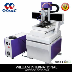 Mini CNC Router for Marble/Aluminum/Copper Carving with Rotary Device (VCT-4540R) pictures & photos