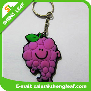 Custom Cheap Grape Rubber Keychain Product for Gifts (SLF-KC039) pictures & photos