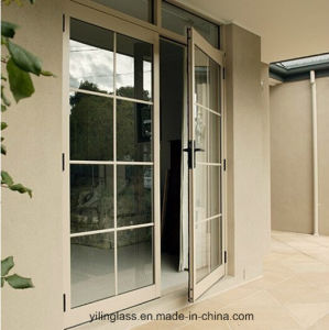 Exterior Double Glazed Casement Aluminium Door pictures & photos