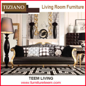 2s007 Tiziano Livingroom Furniture 3-Seater Classical Leather Sofa pictures & photos