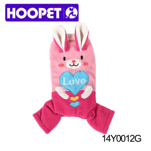 Lovable Pink Rabbit Fashion Dog Clothes