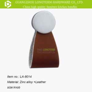 Zinc Leather Furniture Handles and Knobs pictures & photos