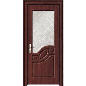China latest design pvc bathroom door with posite front for Pvc bathroom door designs