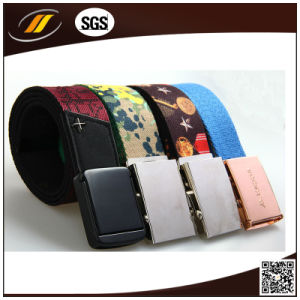 Men Pin Buckle Cotton Printed Belt (HJ0341)