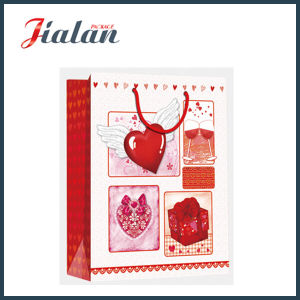 Custom Made Glossy Lamination Ivory Paper for Valentine′s Day Gifts Gift Paper Bag pictures & photos