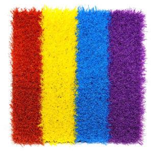 Outdoor Four Color Decorative Artificial Garden Grass with Cheap Price, SGS, CE, ISO9001, ISO14001
