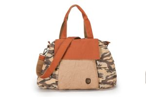 Vogue Printing Canvas Lady Handbag with Cowhide Leather (RS-P53-13) pictures & photos