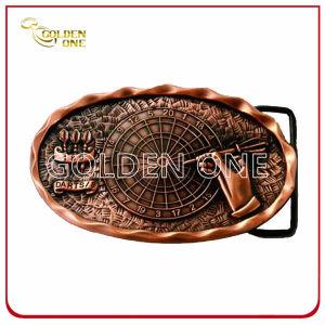 Superior Antique Copper Plated 3D Metal Belt Buckle pictures & photos