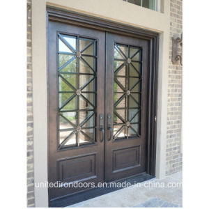 Modern Wrought Iron Entrance Door (UID-D075) pictures & photos