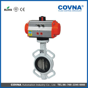 Wafer Type Stainless Steel Disc Pneumatic Control Butterfly Valve pictures & photos