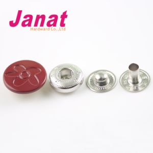 Oil Red Color 4 Parts Brass Snap Button