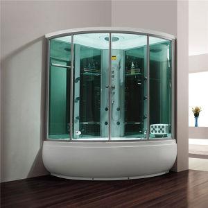 Monalisa Luxury Double Massage Tub Shower Room Steam Sauna (M-8272) pictures & photos