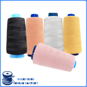 Custom 100% Polyester Textured Over Edging Sewing Thread