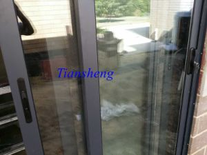 Aluminum Sliding Door with Flyscreen for Australia Market Installation on Site pictures & photos