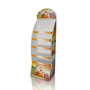 Colorful Paper Floor Display Shelf, Point of Purchase Display Stands pictures & photos