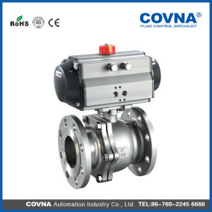 Standard Stainless Steel Flange Pneumatic Ball Valve ANSI pictures & photos