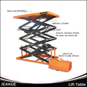 Jeakue Four-Scissor Immovable Electric Lift Table Rated Load 400-800kg pictures & photos