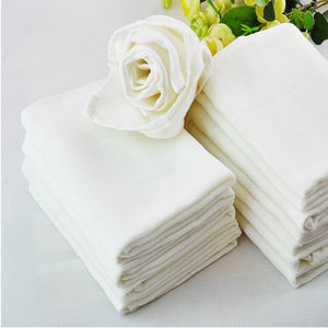 Baby Cotton Gauze Reusable Muslin Diaper Cloth White pictures & photos