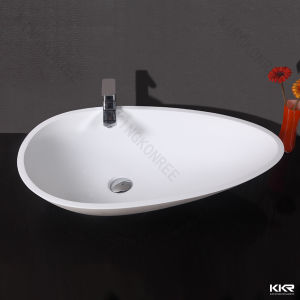 Five Star Hotel Project Solid Surface Vanity Bathroom Wash Hand Basin pictures & photos