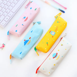 Canvas Pencil Case with Colors Logo Printing