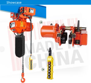 1t Small Manufacturing Machines Electric Chain Hoist with Trolley pictures & photos