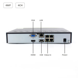 4MP 4channel HDMI P2p Onvif H. 264 CCTV Network DVR pictures & photos