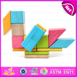 New Arrival 18PCS DIY Wooden Puzzle 4D Toy, Colorful and Non-Toxic Wooden DIY Block Toy Wholesale W03b047 pictures & photos