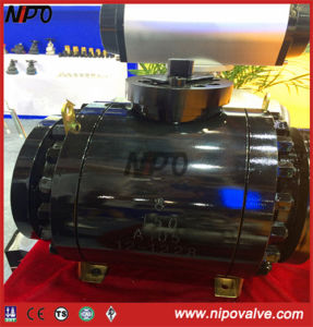 Forged Steel Flanged Trunnion Ball Valve with Electric Actuator pictures & photos