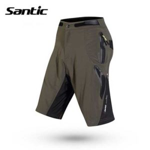 Santic 1/2 Casual Cycling Shorts with Detachable Pad (Gray Liner)