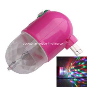 Us Plug 3W RGB LED Full Color Party Rotating Night Lamp Party Light
